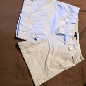 Pale blue jean shorts